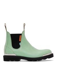 Lanvin Green Calfskin Chelsea Boots