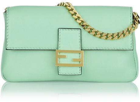6ba5de71d86 ... Fendi Baguette Micro Leather Shoulder Bag ...