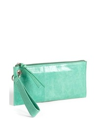 Hobo vida leather clutch mint medium 209015