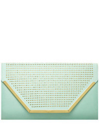 Dorothy Perkins Mint Stud Structured Clutch