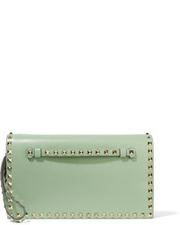 The rockstud leather clutch light green medium 5172703