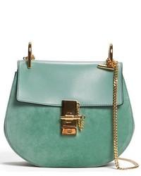 Chloe mini drew leather crossbody bag blue medium 3752807