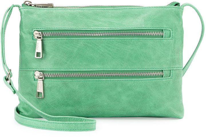 Hobo Mara Small Zip Leather Crossbody Bag Mint