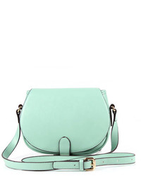 ChicNova Mini Mint Pu Shoulder Bag With Flap Front