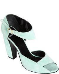 Pierre Hardy Asymmetric Ankle Strap Pump Green