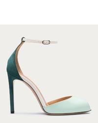 PeepToe Candys Mint Green Peep Toe Sandal