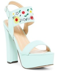 Chase Chloe Cali Embroidered Block Heel Sandal