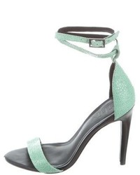 Tibi Leather Multistrap Sandals