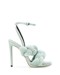 Marco De Vincenzo Pleated Strappy Sandals