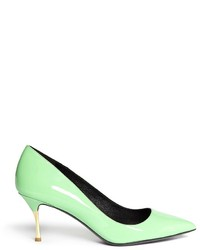 Mint Leather Pumps