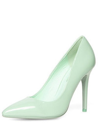 Dorothy Perkins Tonal Mint High Pointed Court Shoes