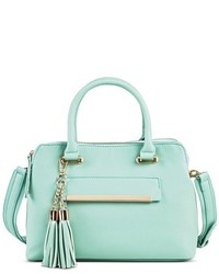 Faux Leather Under One Sky Saffiano Satchel Handbag
