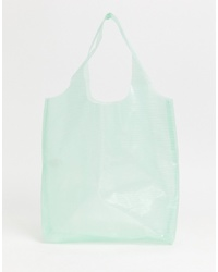 Missguided Clear Shopper Bag In Mint