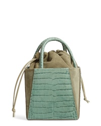 Trademark Dorthea Croc Textured Leather Box Bag