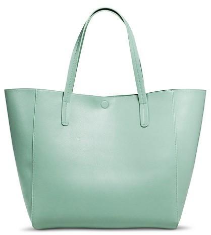 9f911f09c1 ... Merona Reversible Tote Faux Leather Handbag ...