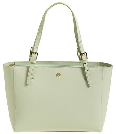 fd965940509d ... Tory Burch Small York Saffiano Leather Buckle Tote ...
