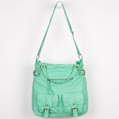 7a6070d41ae3 ... T-Shirt   Jeans Faux Leather 2 Pocket Hobo Bag Mint One Size For  208073523