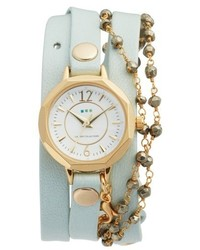 La Mer Collections Perth Wrap Leather Strap Watch 22mm