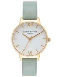 Olivia Burton Midi Dial Leather Strap Watch 30mm