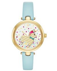 Kate Spade New York Metro Elephant Leather Strap Watch 34mm