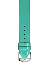 Philip Stein Teslar Philip Stein 18mm Patent Leather Watch Strap Teal Green