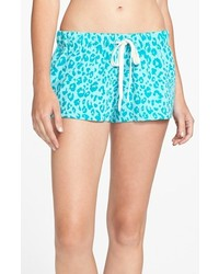 Make model fleece shorts green veridian leopard large medium 112823