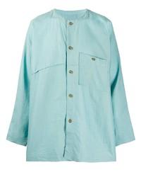 Issey Miyake Men Collarless Shirt
