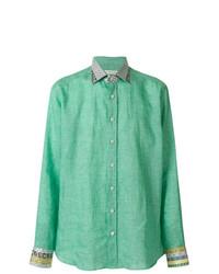 Etro Contrasting Pattern Long Sleeve Shirt