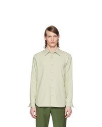 Tibi Green Chalky Drape Shirt