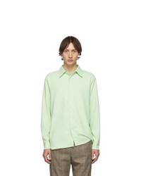 Tibi Green Classic Shirt