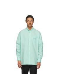 Givenchy Green Pocket Detail Shirt