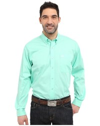 Cinch Long Sleeve Button Down Solid Long Sleeve Button Up