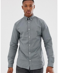 Jack & Jones Premium Shirt In Green Stretch Cotton