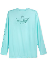 Guy Harvey Performance Uv Protection Graphic Print Long Sleeve T Shirt