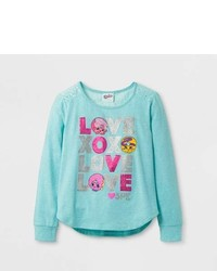 Shopkins Girls Shopkins Long Sleeve T Shirt Mint Green