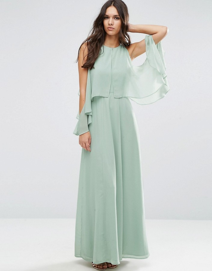 023ae0c6be0 ... Asos Extreme Cold Shoulder Maxi Dress ...