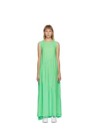 Collina Strada Green Silk Ritual Dress
