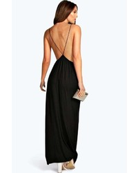 4e44e6c215d3 Boohoo Laura Strappy Back Maxi Dress, $28 | BooHoo | Lookastic.com