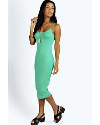 ... Boohoo Nicole Strappy Bodycon Midi Dress f543c7922953