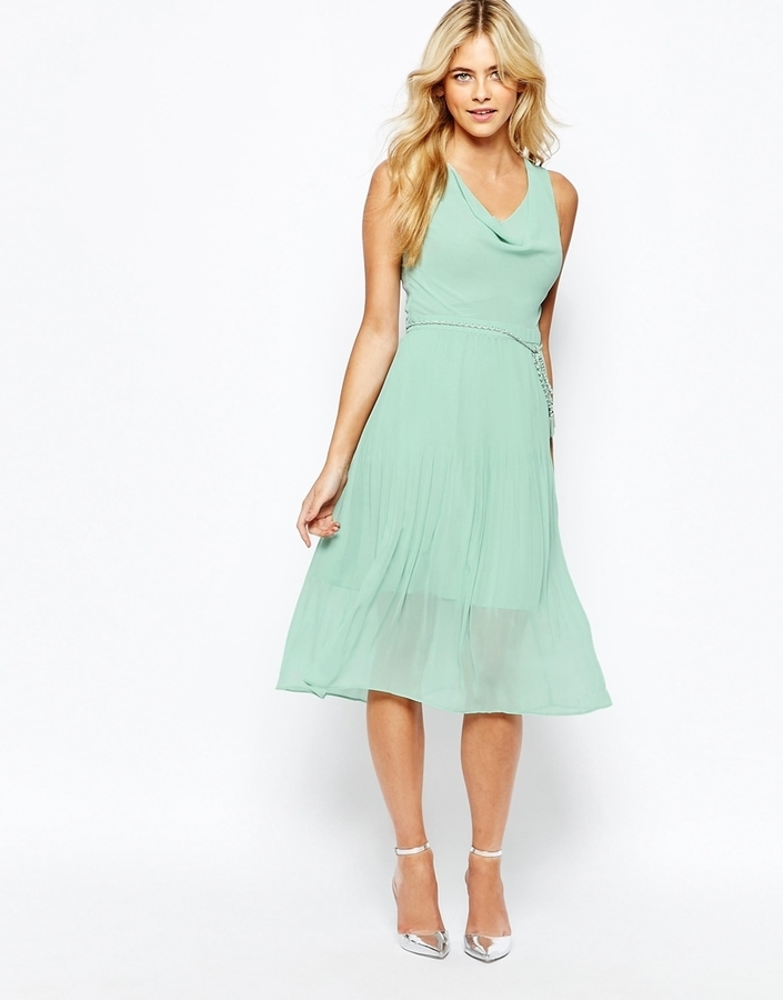 Oasis Oasis Pleat Detail Midi Dress Where To Buy How To Wear