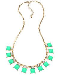 Blu Bijoux Mint Geometric Mini Bib Necklace