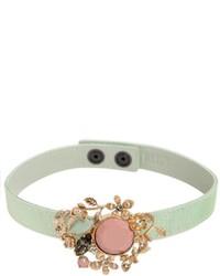 RED Valentino Jeweled Satin Chocker Necklace