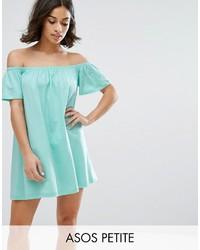 Asos Petite Petite Off Shoulder Mini Dress