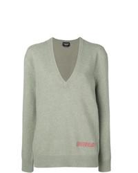 Calvin Klein 205W39nyc Plunge Neck Oversized Sweater