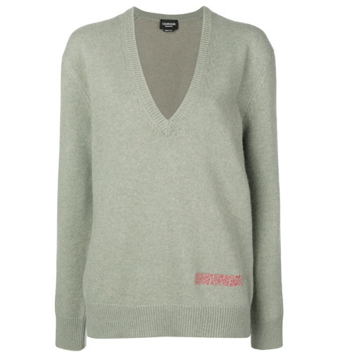 da9ee7f11e6 ... Mint Oversized Sweaters Calvin Klein 205W39nyc Plunge Neck Oversized  Sweater ...