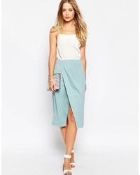 Asos Collection Pencil Skirt With Wrap Front