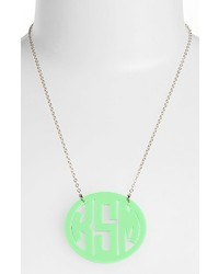 Large oval personalized monogram pendant necklace medium 242230