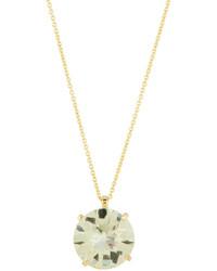 Roberto Coin 18k Round Green Amethyst Pendant Necklace