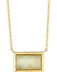 Ippolita Rock Candy 18k Small Blue Topaz Doublet Baguette Pendant Necklace