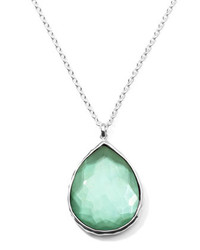 Wonderland silver large teardrop pendant necklace mint medium 270413